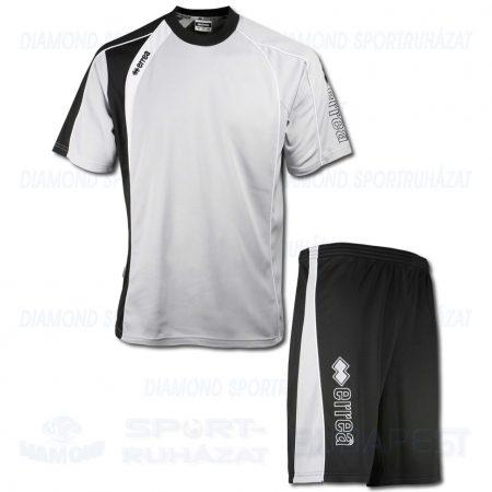 ERREA DAKOTA KIT belebújós edző melegítő felső (rövid ujjú) + rövidnadrág KIT - világosszürke-fekete [XL]