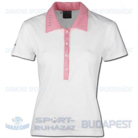 ERREA JANE WOMAN női póló (rövid ujjú galléros) - fehér-rózsaszín [S]