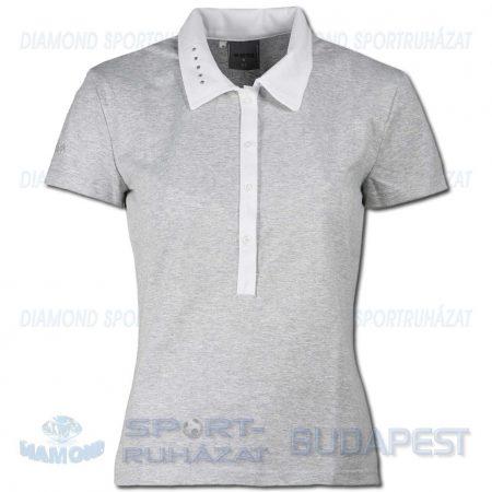 ERREA JANE WOMAN női póló (rövid ujjú galléros) - melírozott középszürke-fehér [XS]