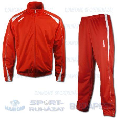 ERREA SIBARI KIT cipzáras szabadidő melegítő felső + nadrág KIT - piros-fehér-világosszürke