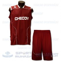 ERREA CHECOV DECO KIT SENIOR dekorfeliratos mez + nadrág KIT - bordó-fehér [L]