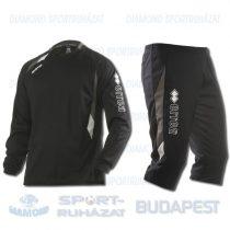 ERREA COLE KIT belebújós edző melegítő felső + háromnegyedes nadrág KIT - fekete-antracit-fehér