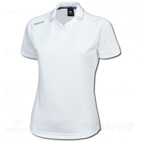 ERREA TEAM LADIES női pamut póló (rövid ujjú galléros) - fehér