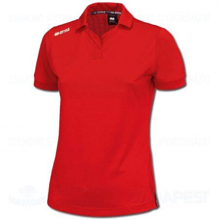 ERREA TEAM LADIES női pamut póló (rövid ujjú galléros) - piros
