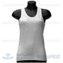 ERREA FIT LADIES női fitness póló (ujjatlan) - melírozott középszürke-fehér 2209511211