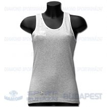 ERREA FIT LADIES női fitness póló (ujjatlan) - melírozott középszürke-fehér