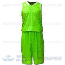 ERREA HOUSTON KIT férfi kosárlabda mez + nadrág KIT - UV zöld-fehér