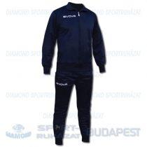 GIVOVA BEST KIT JUNIOR cipzáras szabadidő melegítő felső + nadrág KIT - tengerkék [4XS]