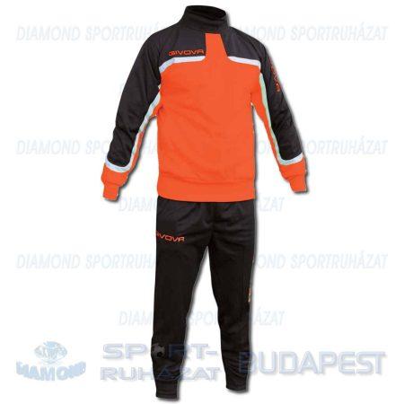 GIVOVA OCEANIA FLUO KIT belebújós edző- és szabadidő melegítő felső + nadrág KIT - UV narancssárga-fekete